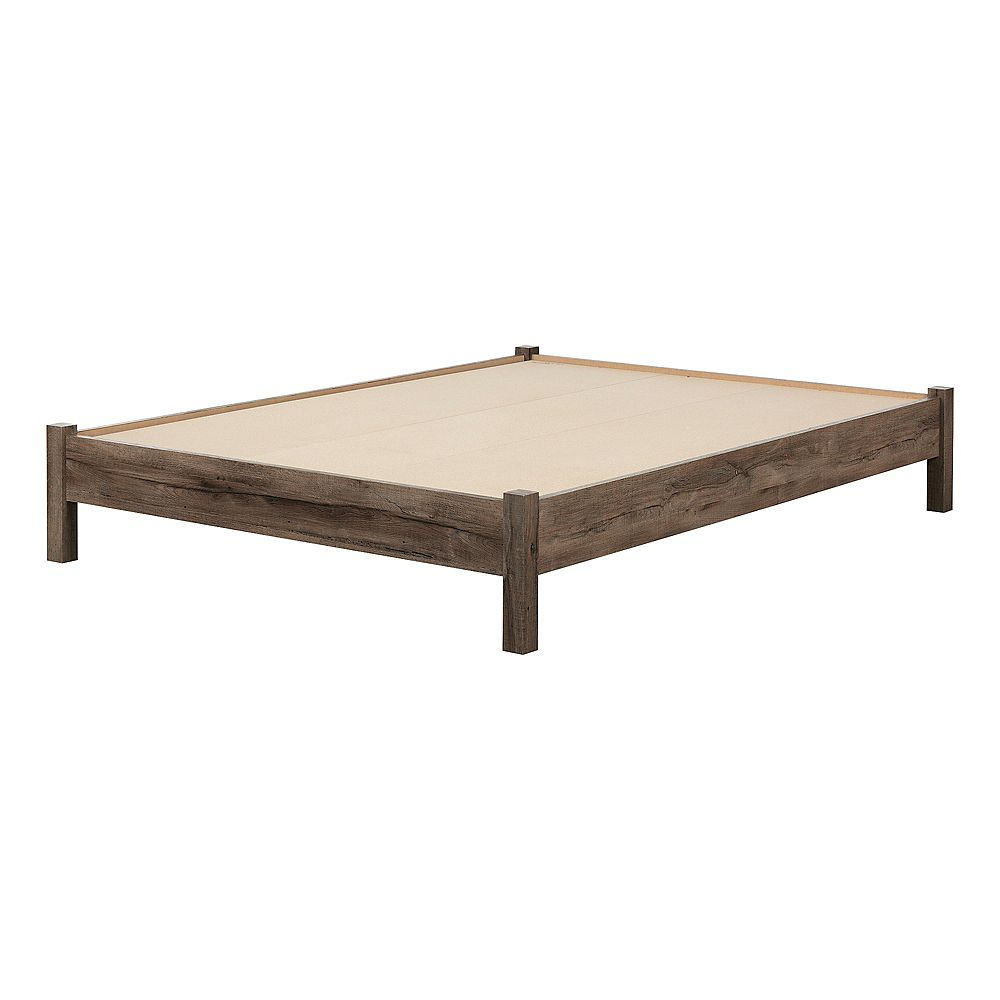 South Shore Fynn Full-Size Platform Bed (54-inch), Fall Oak