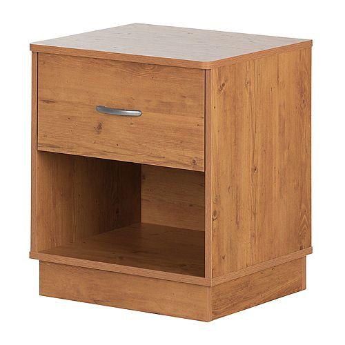 Logik 1-Drawer Nightstand, Country Pine