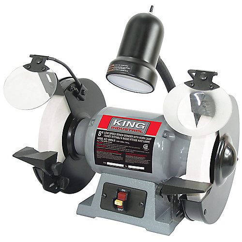 8 inch Low Speed Bench Grinder With Light