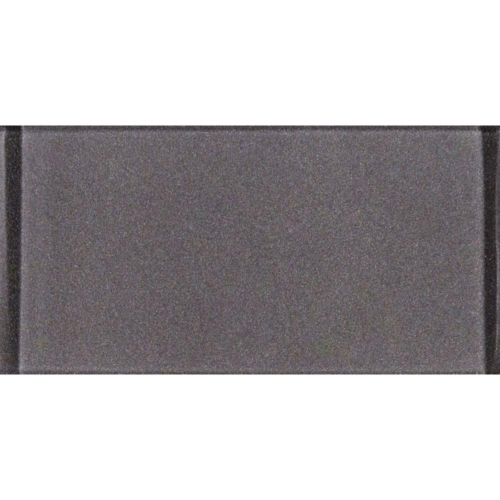 MSI Stone ULC Metallic Grey 3-inch x 6-inch Glass Wall Tile (1 sq. ft. / case)