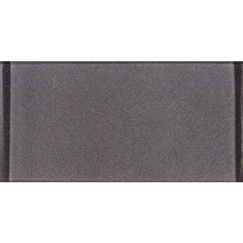 Carreaux de verre pour murs, gris métallique, 3 po x 6 po, 1 pi2/bte