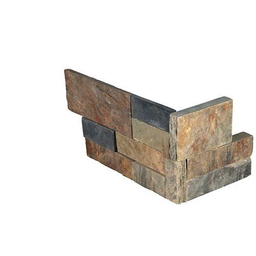 MSI Stone ULC Carr. d'ardoise naturelle pour murs, Ruée vers l'or, panneaux de coin de 6 po x 18 po, 4,5 pi2/bte