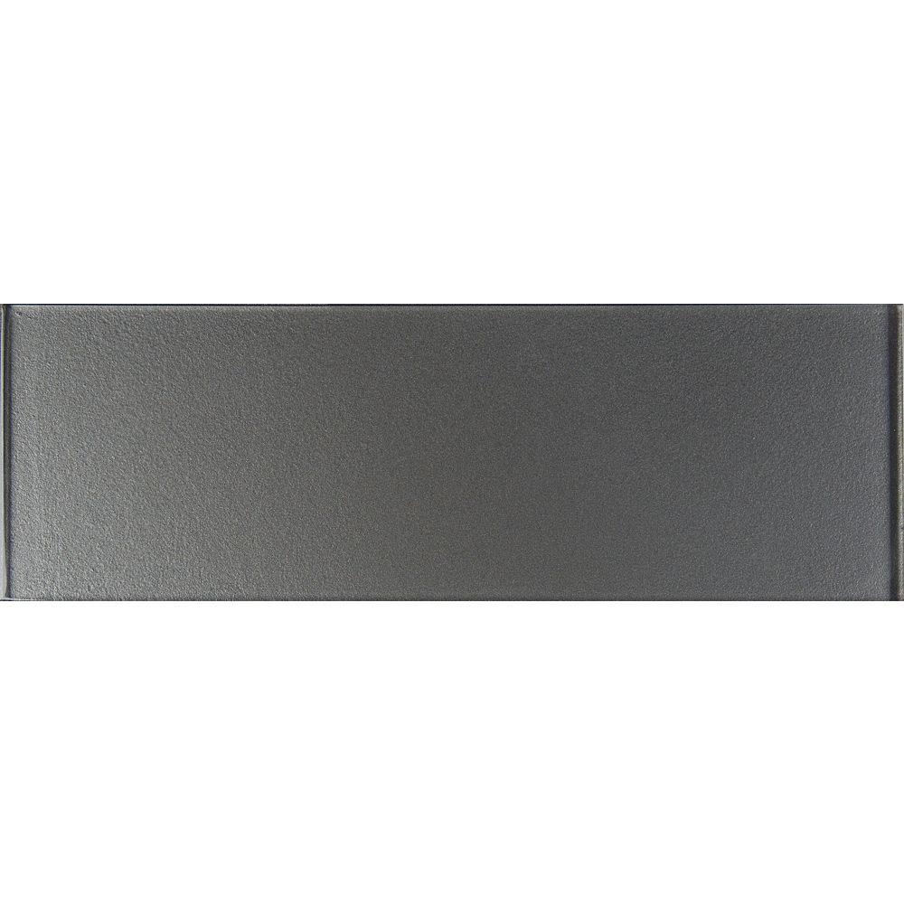 MSI Stone ULC Carreaux de verre pour murs gris métallique, 4 po x 12 po, 5 pi2/bte