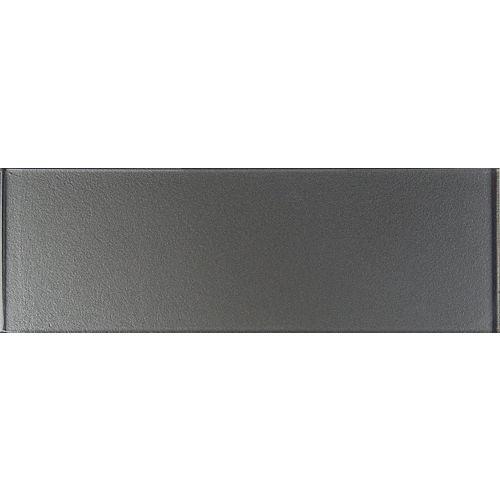 Carreaux de verre pour murs gris métallique, 4 po x 12 po, 5 pi2/bte
