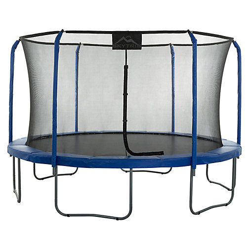 SKYTRIC 11 ft. Trampoline with Top Ring Enclosure System equipped