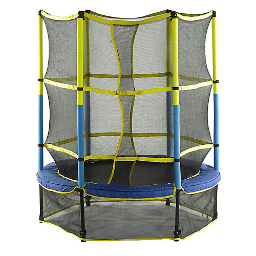55 inch Kid-Friendly Trampoline & Enclosure Set equipped with Easy Assemble Feature