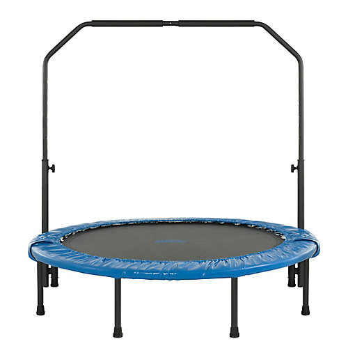 48 inch Mini Foldable Rebounder Fitness Trampoline with Adjustable Handrail