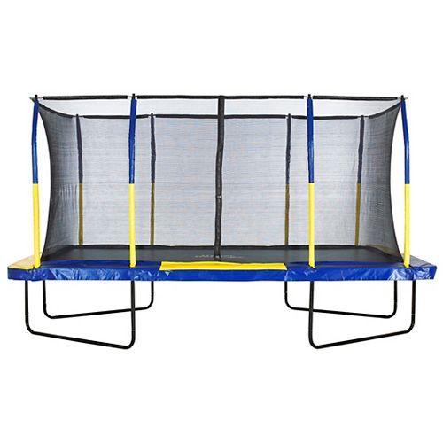 Easy Assemble Mega 9 ft. X 15 ft. Rectangular Trampoline, with Fiber Flex Enclosure System