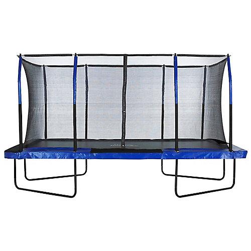Easy Assemble Mega 8 ft. X 14 ft. Rectangular Trampoline, with Fiber Flex Enclosure System