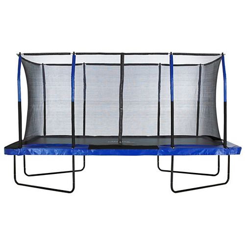Easy Assemble Mega 8 ft. X 14 ft. Rectangular Trampoline, with Fiber Flex Enclosure System
