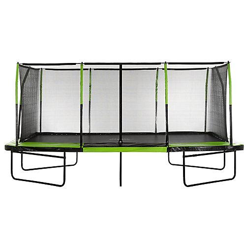 Mega Trampoline 10 ft. X 17 ft. - Fiber Flex Enclosure System - Easy Assemble