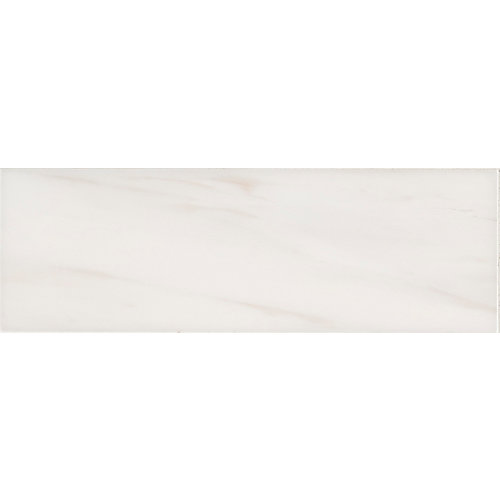 Bianco Dolomite 4-inch x 12-inch Polished Marble Floor and Wall Tile (5 sq. ft. / case)