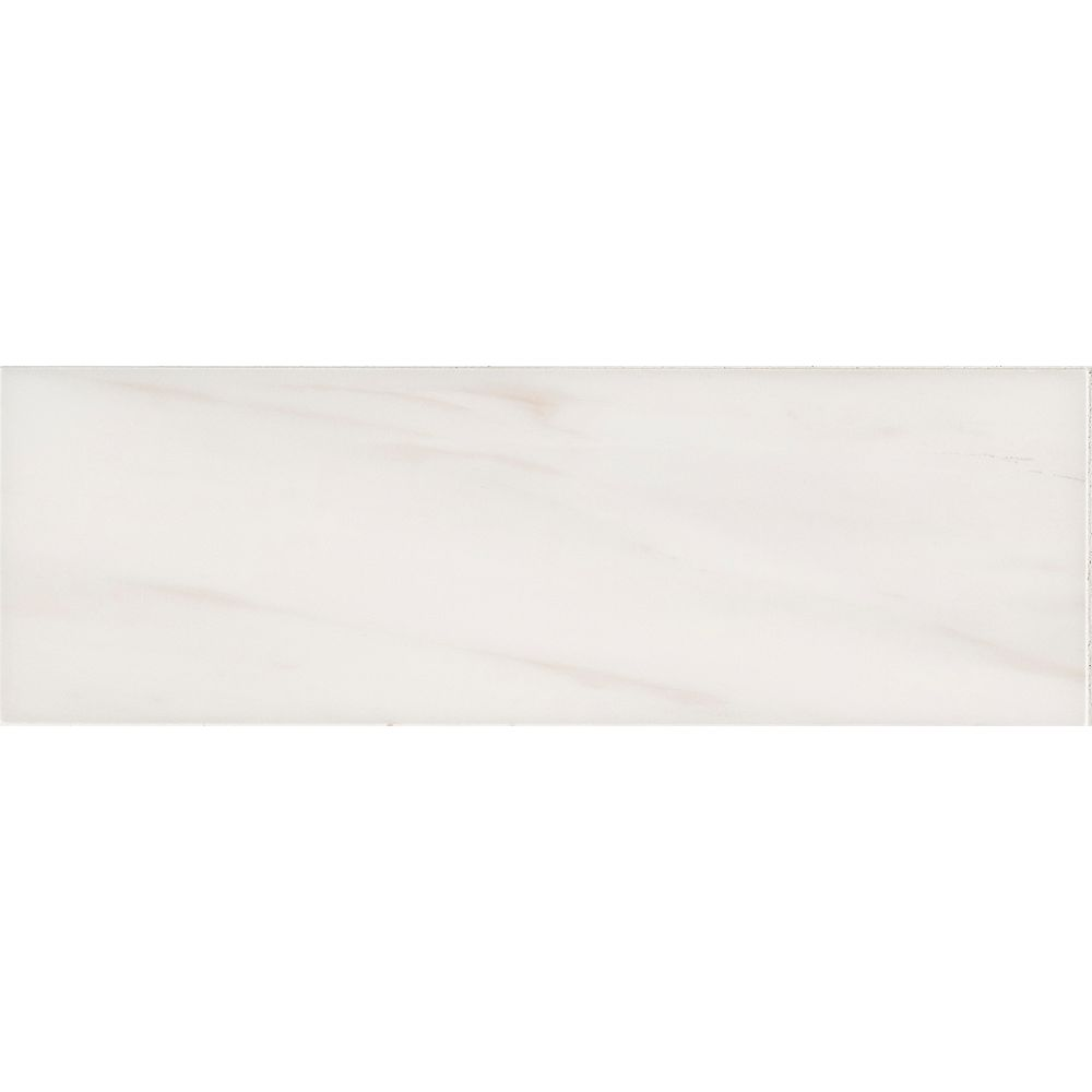 MSI Stone ULC Bianco Dolomite 4-inch x 12-inch Polished Marble Floor and Wall Tile (5 sq. ft. / case)
