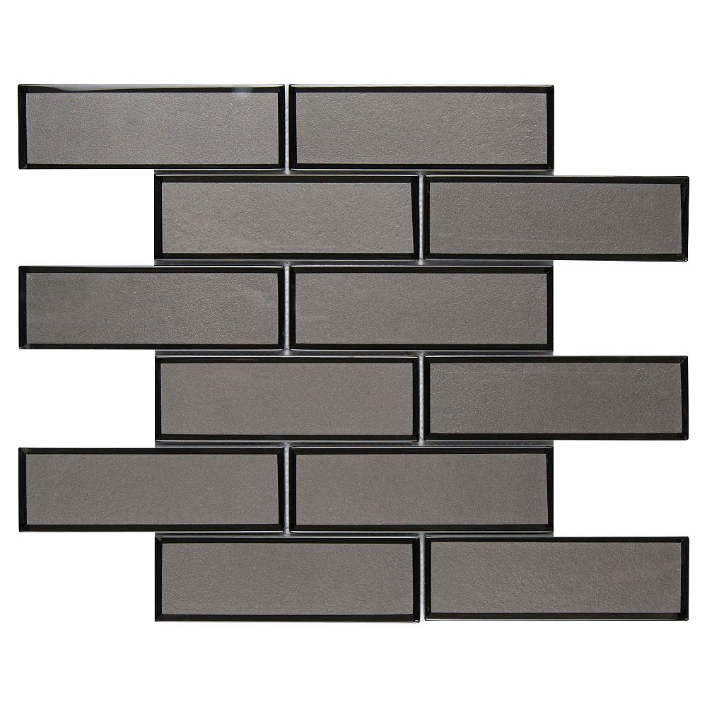 MSI Stone ULC Metallic Gray Bevel Subway 11.73-inch x 11.73-inch x 8 mm Glass Mesh-Mounted Mosaic Tile (9.6 sq. ft. / case)