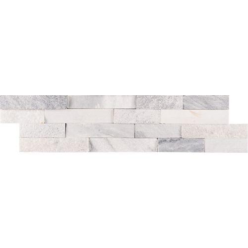 MSI Stone ULC Carreaux de marbre naturel pour murs Alaska fini multiple, panneaux, 6 po x 24 po (60  pi ca/palette)