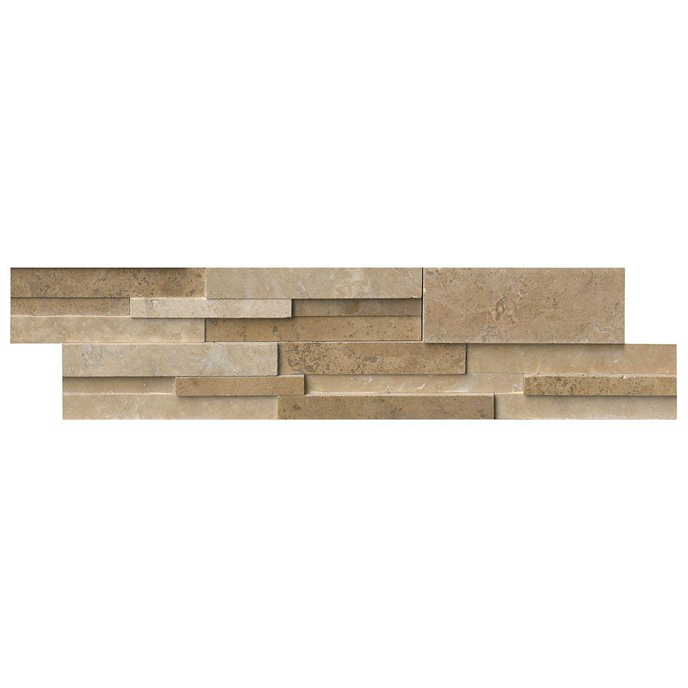 MSI Stone ULC Casa Blend 3D Honed Ledger Panel 6-inch x 24-inch Natural Quartzite Wall Tile (80 sq. ft. / case)