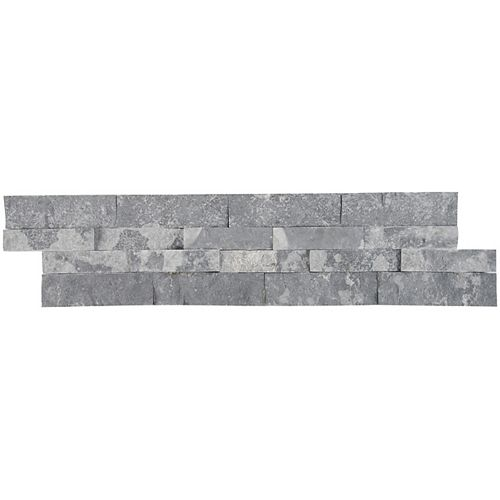 Glacial Grey Splitface Ledger Panel 6-inch x 24-inch Natural Marble Wall Tile (80 sq. ft. / Pallet)