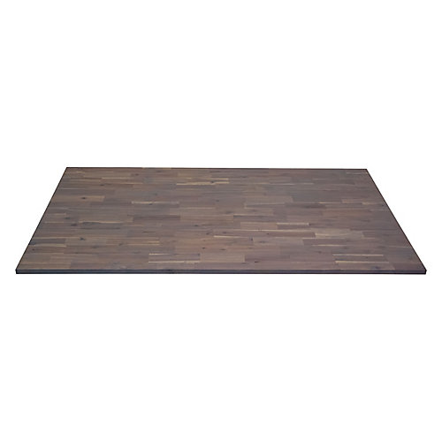 Acacia Hardwood Countetop, 72 inch x 25.5 inch x 1 inch, Organic White Hardwax Oil Food-Safe Finish