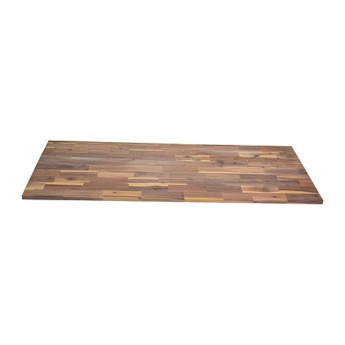 Home Decorators Collection 72-inch x 25.5-inch x 1-inch Hardwood Countertop in Organic White Hardwax Oil with Food-Safe Finish