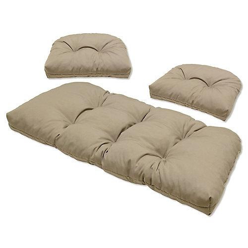 3 Piece Cushion Set Grey