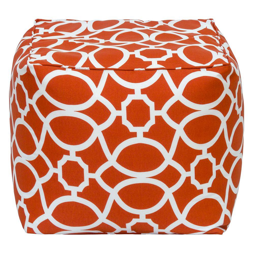 Bozanto Inc. Square Pouff Geo Red