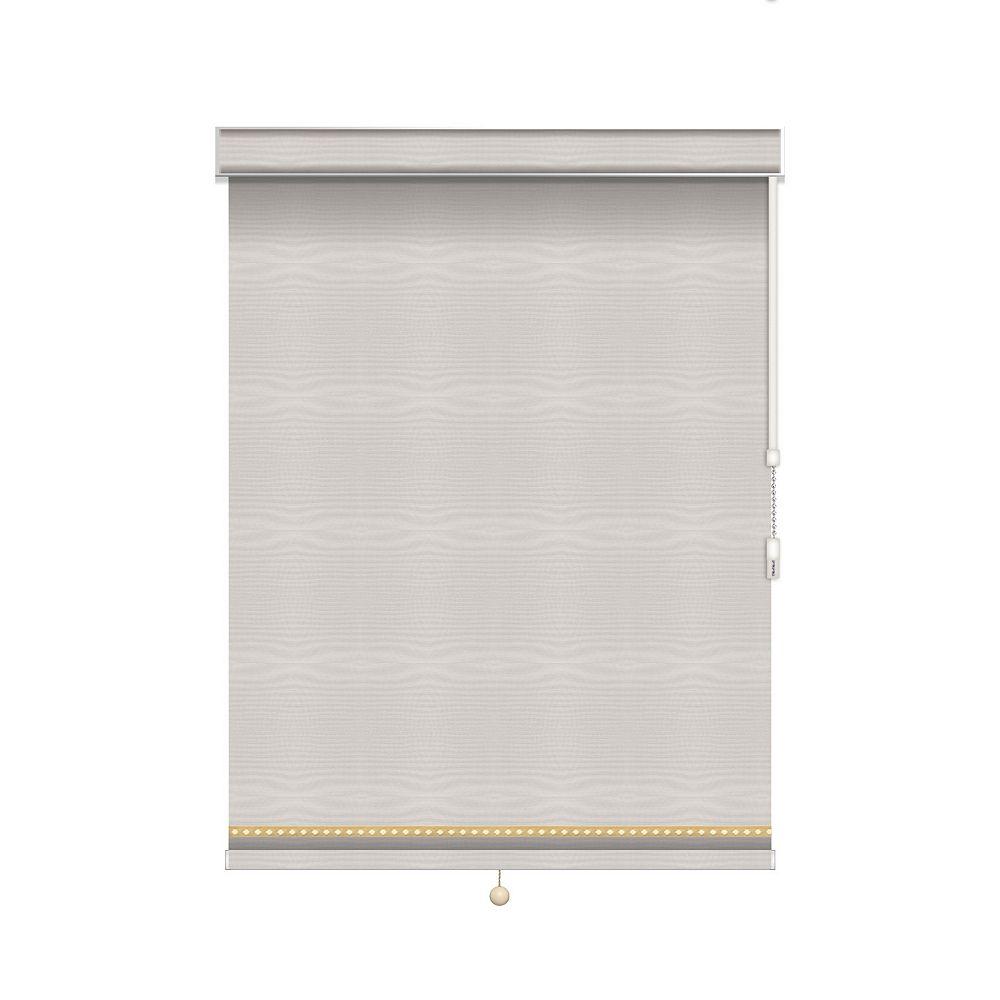 Sun Glow Toiles à Rouleau Opaque avec Garniture Déco  - À Chaîne avec Cantonnière - 33-po X 60-po
