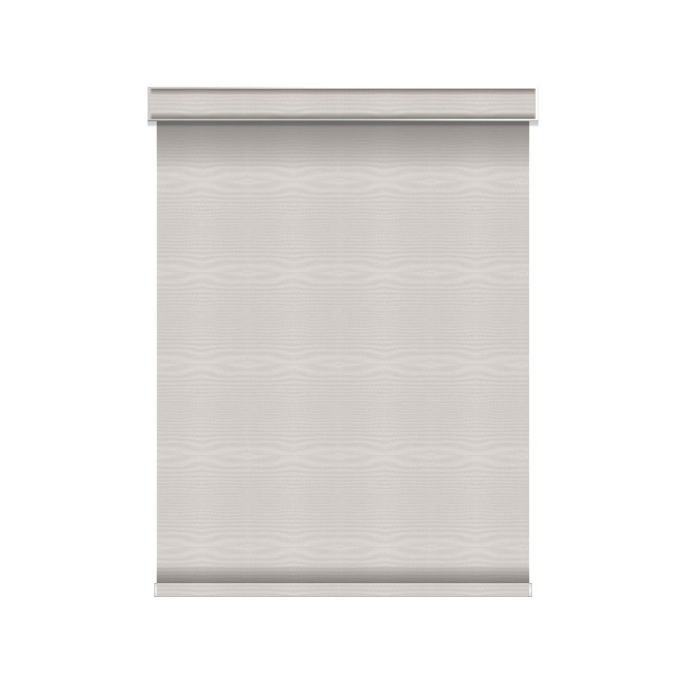 Sun Glow Blackout Roller Shade - Chainless with Valance - 58.25-inch X 36-inch in Ice