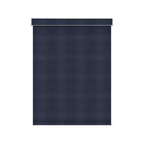 Sun Glow Blackout Roller Shade - Chainless with Valance - 62.25-inch X 60-inch in Navy