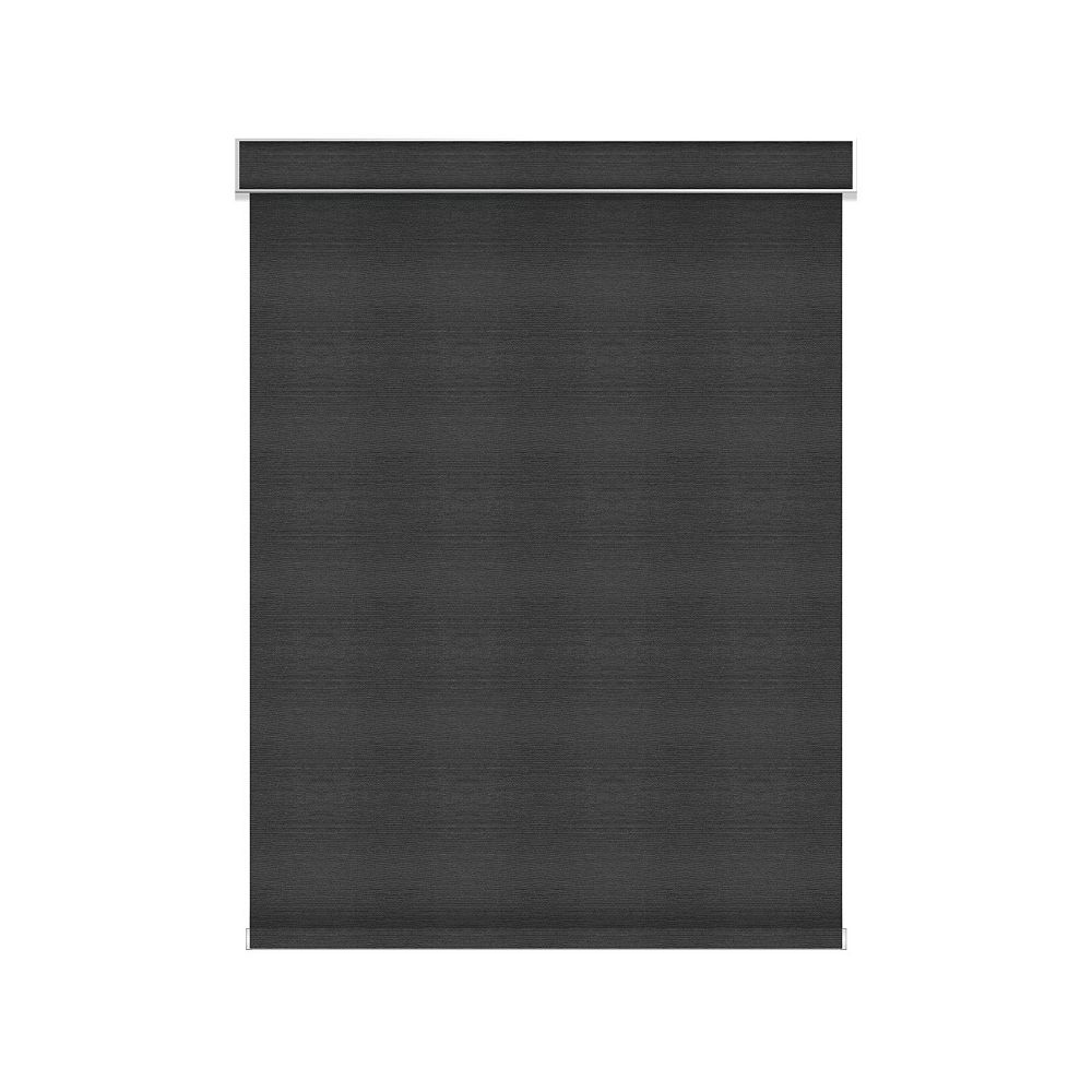 Sun Glow Blackout Roller Shade - Chainless with Valance - 37.25-inch X 36-inch in Denim