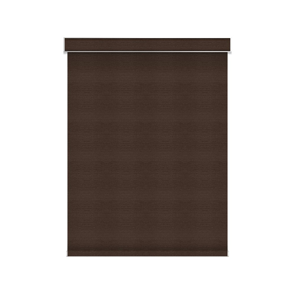Sun Glow Blackout Roller Shade - Chainless with Valance - 34.5-inch X 60-inch in Cinder