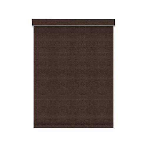 Sun Glow Tissue Opaque Toiles à Rouleau - sans Chaîne avec Cantonnière  - 57.5-po X 60-po en Cendre