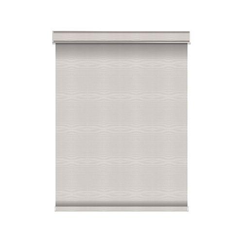 Sun Glow Tissue Opaque Toiles à Rouleau - Motorisé avec Cantonnière - 44.25-po X 60-po en Glace