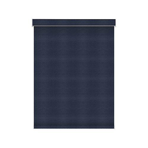 Sun Glow Tissue Opaque Toiles à Rouleau - Motorisé avec Cantonnière - 56.25-po X 60-po en Marine