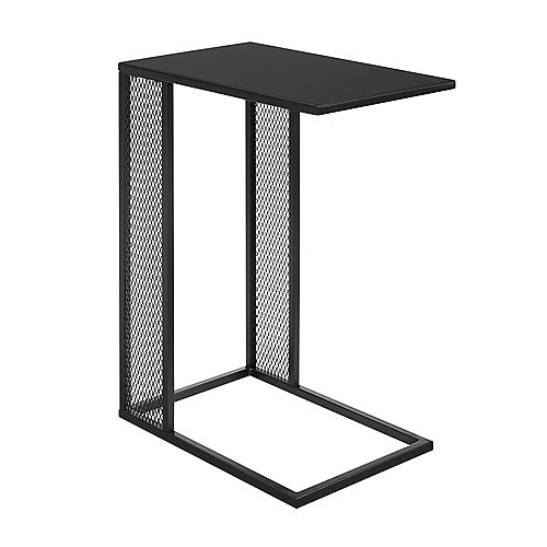 Industrial Metal C Table and End Table - Black