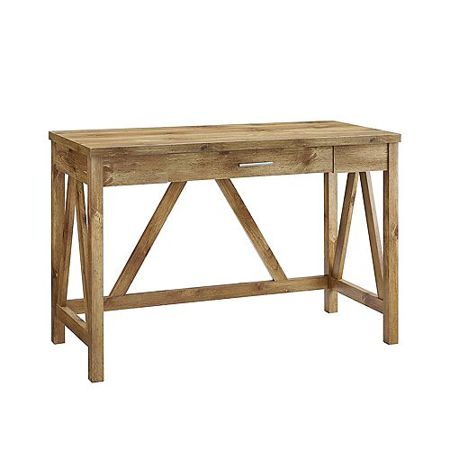 Rustic Farmhouse Computer Writing Desk - Barnwood