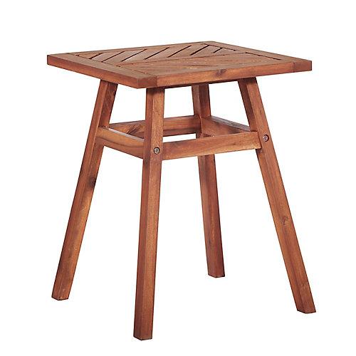 Table d'appoint en bois pour patio - Brun