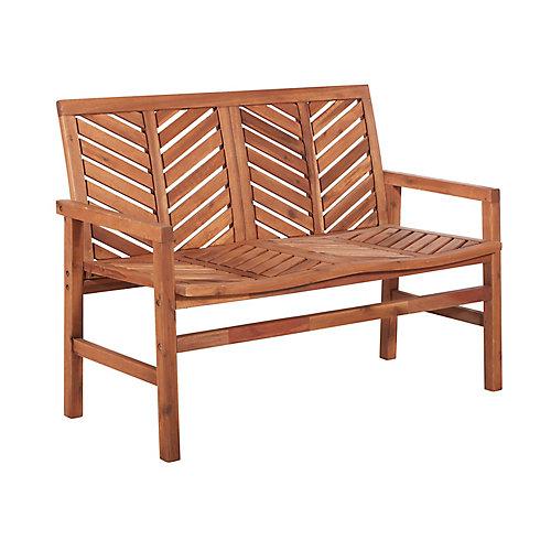 Banc de patio en bois de 121,92 cm (48 po) - Brun