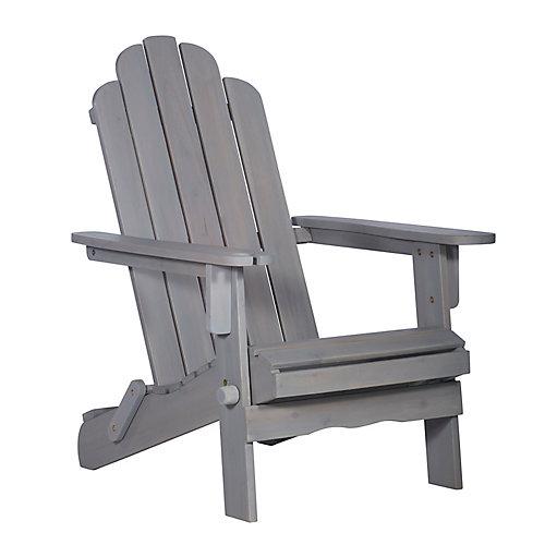 Adirondack Outdoor Patio Chair - Grey Wash