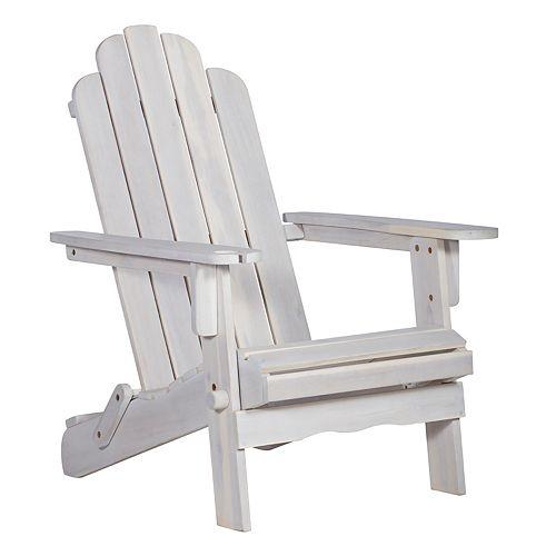 Adirondack Outdoor Patio Chair - White Wash