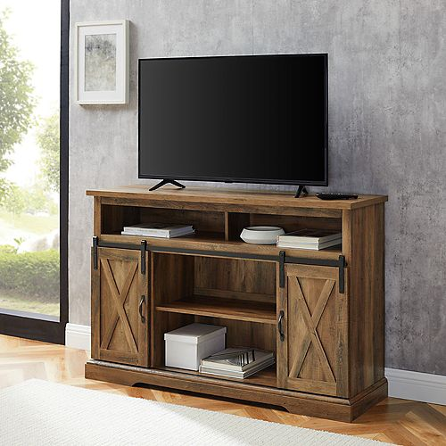 Modern Farmhouse TV Stand for TV's up to 56 inch- Reclaimed Barnwood