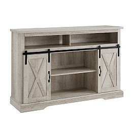 Modern Farmhouse TV Stand for TV's up to 56 inch - White Oak