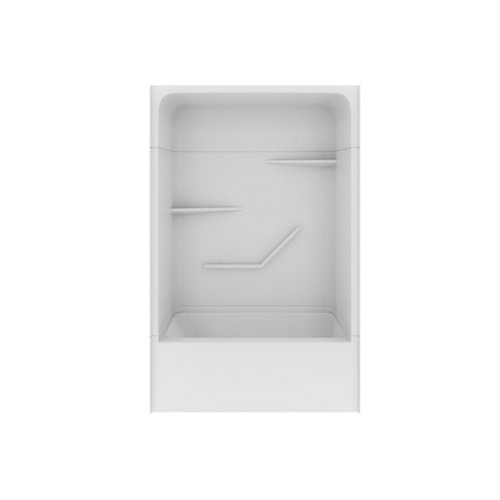 White Tribeca Tub Shower Right