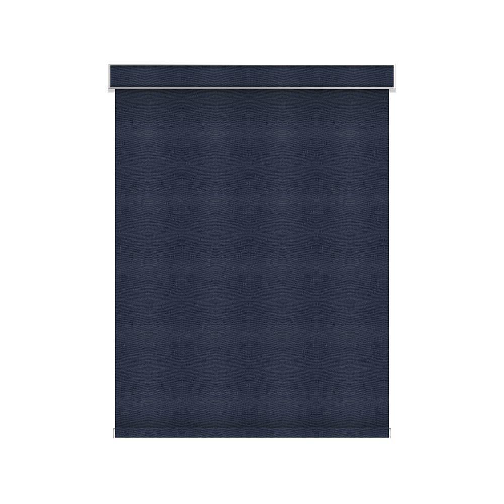 Sun Glow Tissue Opaque Toiles à Rouleau - Motorisé avec Cantonnière - 62.25-po X 84-po en Marine
