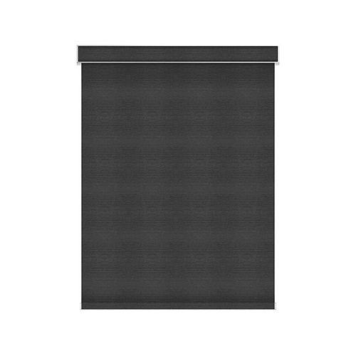 Sun Glow Tissue Opaque Toiles à Rouleau - Motorisé avec Cantonnière - 65.25-po X 60-po en Denim