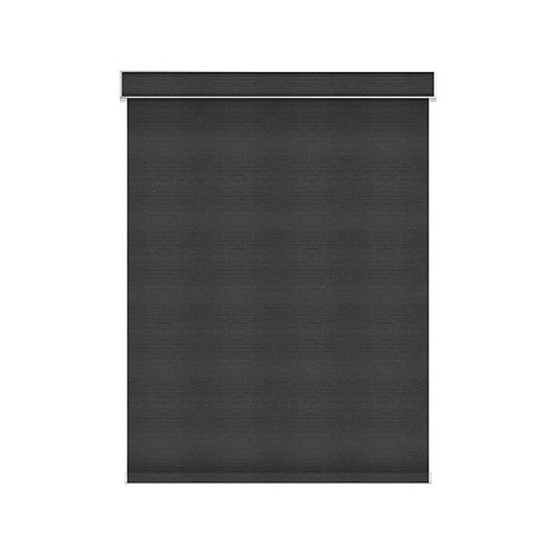 Sun Glow Blackout Roller Shade - Motorized with Valance - 36.75-inch X 84-inch in Denim
