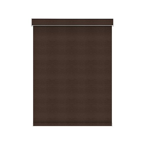 Sun Glow Blackout Roller Shade - Motorized with Valance - 57-inch X 60-inch in Cinder