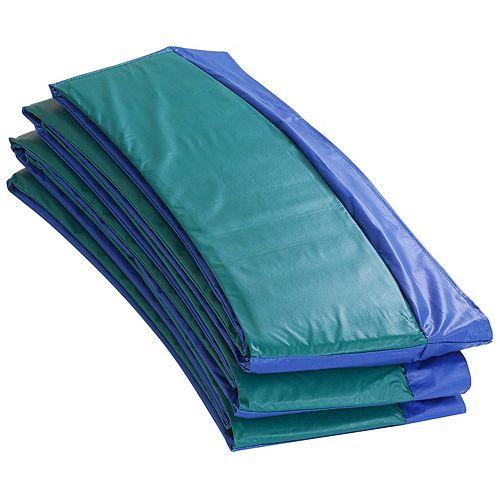 Coussin de sécurité de remplacement de Super trampoline  pour cadres ronds de 14 pieds-bleu/vert