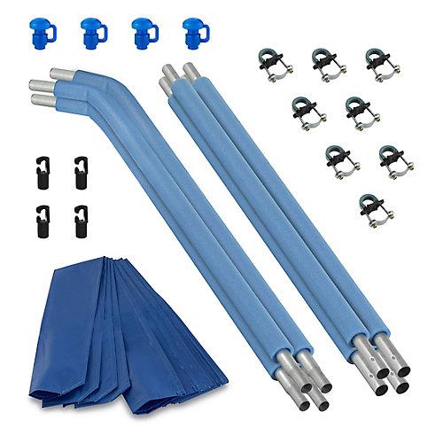 Trampoline Replacement Enclosure Poles & Hardware, Top Ring Enclosure System, Set of 4