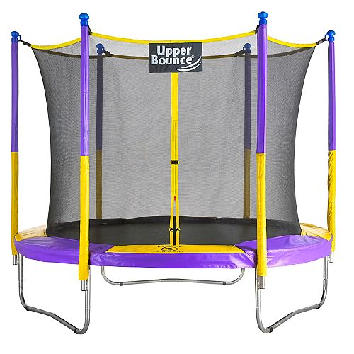 9 ft. Trampoline & Enclosure Set equipped with the New EASY ASSEMBLE FEATURE