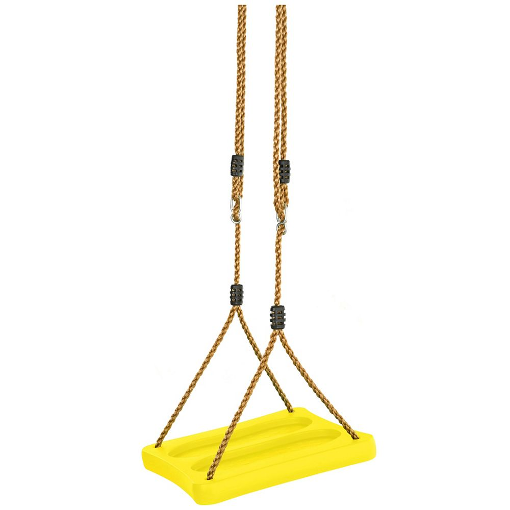 Swingan One Of A Kind Standing Swing With Adjustable Ropes - Fully Assembled - Yellow